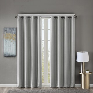 SunSmart Briar Jacquard Solid Basket Weave Blackout Curtain Panel