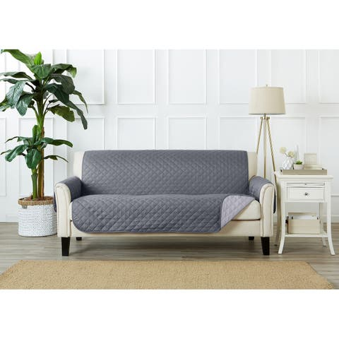Home Fashion Designs Kaylee Collection Quilted Reversible Sofa Protector