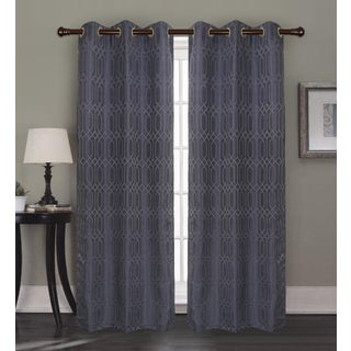 RT Designers Collection Oakley Jacquard 84 in. Grommet Curtain Panel Pair - 38 x 84 in. x 2 (total width: 76 in.)