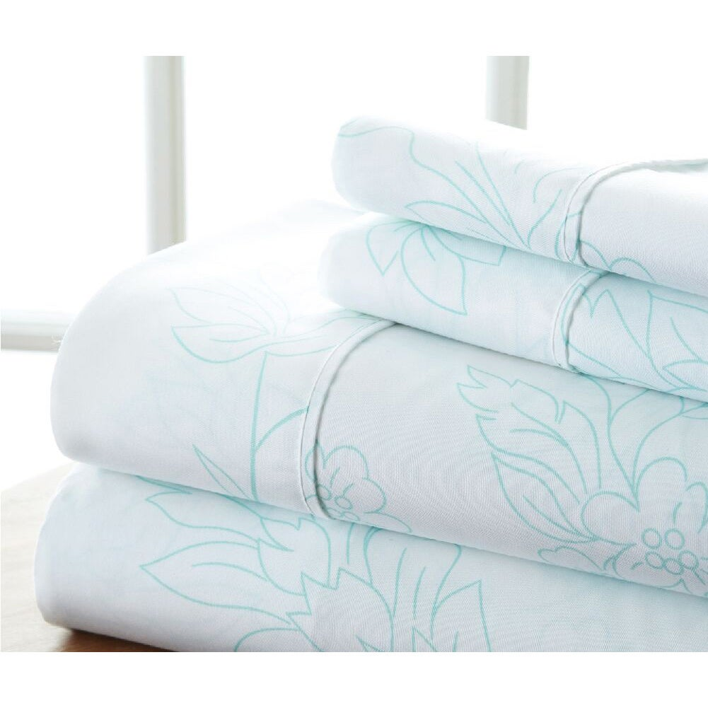 Becky Cameron Premium Ultra Soft Printed 4 Piece Bed Sheet Set On Sale Overstock 17805420