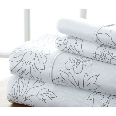 Becky Cameron Premium Ultra Soft Printed 4-piece Bed Sheet Set
