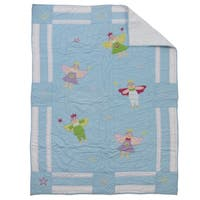Fairy Baby Quilt Blue
