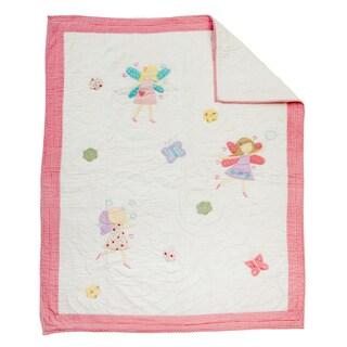 Fairy White Baby Quilt
