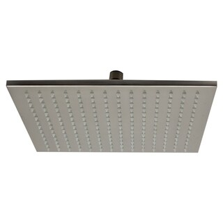 "ALFI brand LED12S-BN Brushed Nickel 12"" Square Multi Color LED Rain Shower Head"