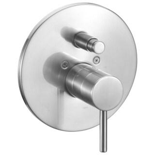 ALFI brand AB1701-BN Brushed Nickel Pressure Balanced Round Shower Mixer with Diverter
