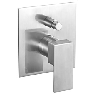 ALFI brand AB6801-BN Brushed Nickel Modern Square Pressure Balanced Shower Mixer with Diverter