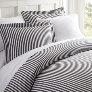 Becky Cameron Premium Ultra Soft 3 Piece Printed Duvet Cover Set (Queen/Full - ribbon-gray)