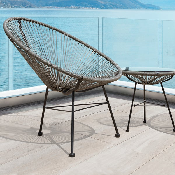 Sarcelles Modern Wicker Patio Chairs By Corvus (Set Of 2)   Free Shipping  Today   Overstock.com   23999648