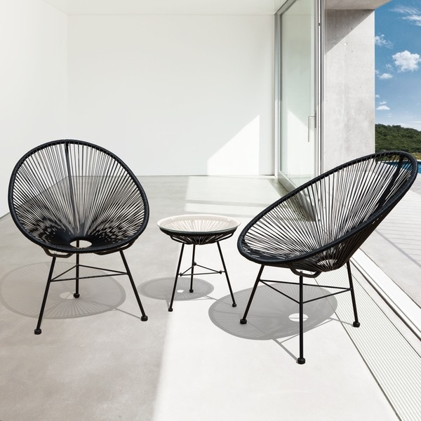 Modern Outdoor Chair: Shop Sarcelles Modern Wicker Patio Chairs By Corvus (Set