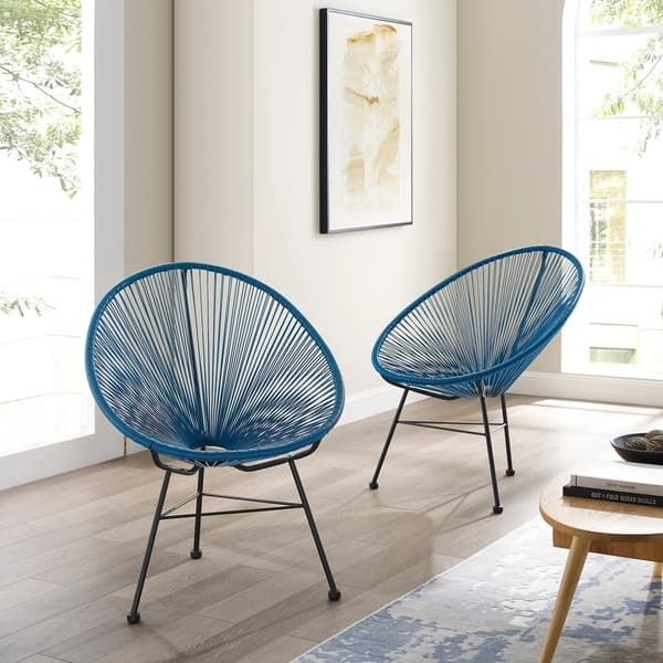Pleasing Shop Sarcelles Modern Wicker Patio Chairs By Corvus Set Of Gmtry Best Dining Table And Chair Ideas Images Gmtryco