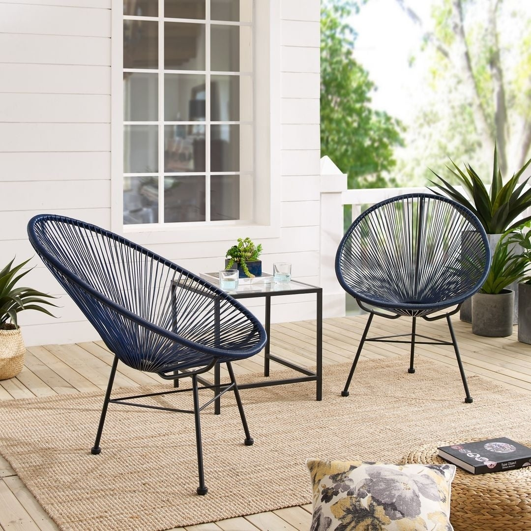 Sarcelles Modern Wicker Patio Chairs