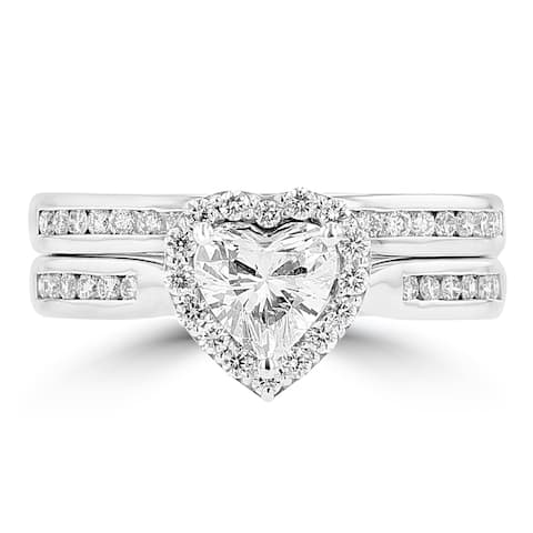 La Vita Vital 14K White Gold Diamond 1.15cts TDW Bridal Set - White G-H - White G-H
