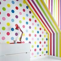 Graham & Brown Dotty Multi Bright Wallpaper