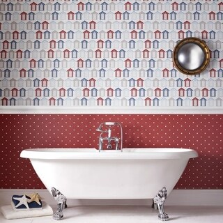Graham & Brown Beach Huts Multi Wallpaper