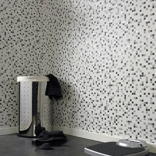 Graham & Brown Checker Black & White Wallpaper