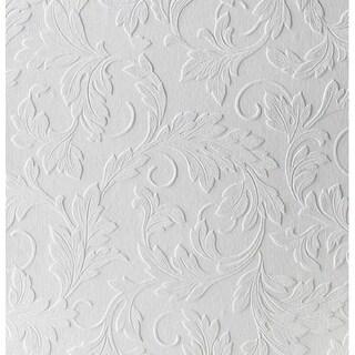Graham & Brown Large Scrolling Leaf Paintable Wallpaper