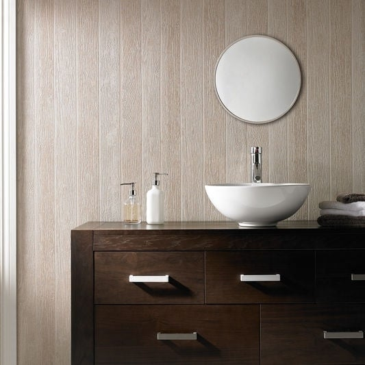 Graham & Brown Nautical Woodgrain Beige Wallpaper