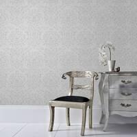 Graham & Brown Empress Damask Grey Wallpaper