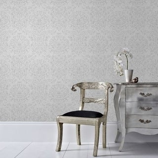 Graham & Brown Empress Damask Grey Wallpaper