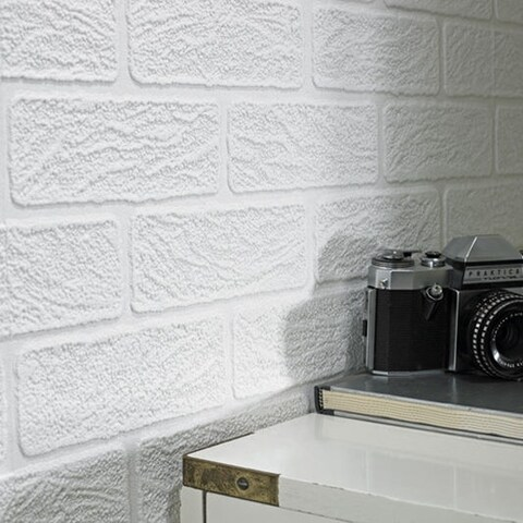 Graham & Brown Brick Paintable Paintable Wallpaper