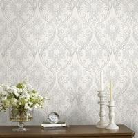Graham & Brown Royale Silver / White Wallpaper