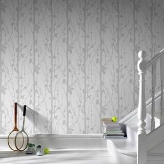 Graham & Brown Solitude Glitter Silver/ White Wallpaper