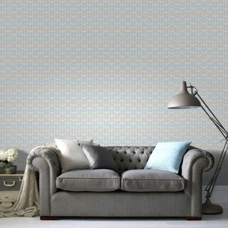 Graham & Brown Oiti Taupe Bleu Wallpaper