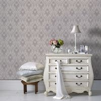 Graham & Brown Royale Lilac /  White Wallpaper