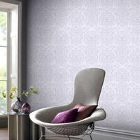 Graham & Brown Empress Damask Lilac Wallpaper