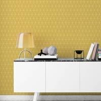 Graham & Brown Triangolin Mustard Wallpaper