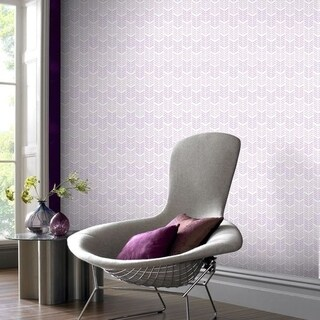 Graham & Brown Oiti Gris Mauve Wallpaper