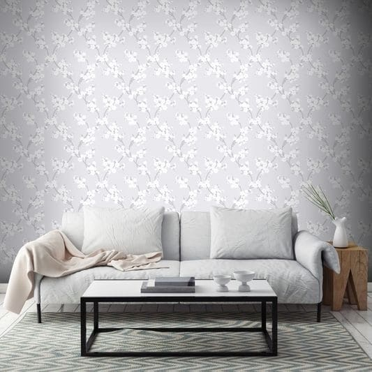 Graham Amp Brown Cherry Blossom Silver Wallpaper