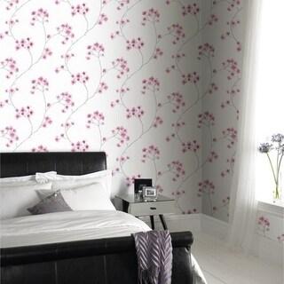 Graham & Brown Radiance White/ Pink Wallpaper