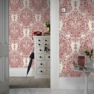 Graham & Brown Melody Red Wallpaper