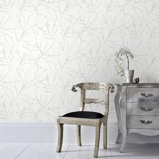 Graham & Brown Innocence White Mica Wallpaper