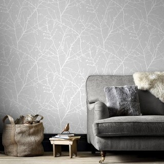 Graham & Brown Innocence Grey Wallpaper