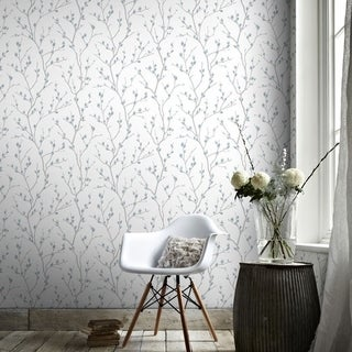 Graham & Brown Karma White/ Teal Wallpaper