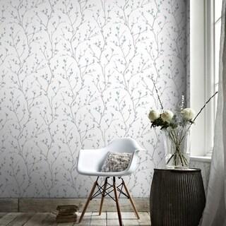 Graham & Brown Karma White/ Teal Wallpaper