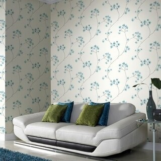 Graham & Brown Radiance Teal/ White Wallpaper