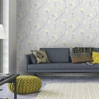 Graham & Brown Radiance Grey/ Ochre Wallpaper