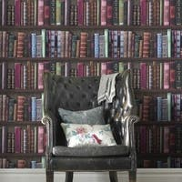 Graham & Brown Bookshelf Wallpaper