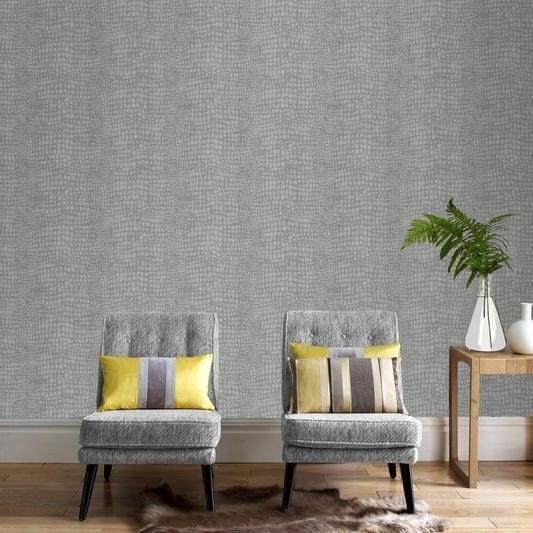 Graham & Brown Crocodile Grey Wallpaper