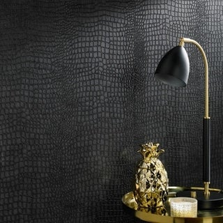 Link to Graham & Brown Crocodile Black Wallpaper (As Is Item) Similar Items in As Is