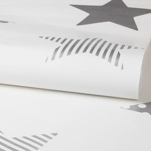 Graham & Brown Superstar Silver Wallpaper