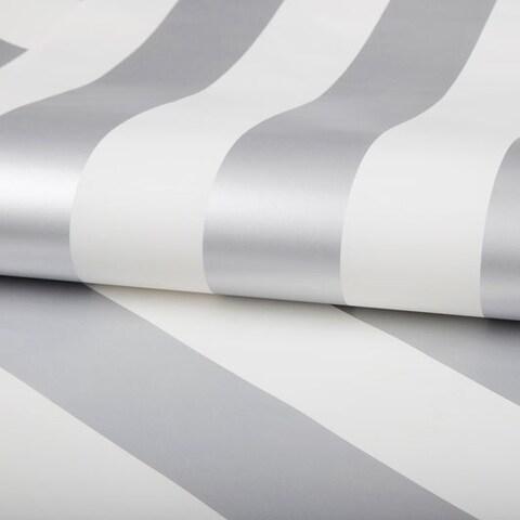 Graham & Brown Silver Stripe Wallpaper