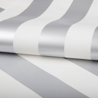 Graham & Brown Silver Stripe Wallpaper