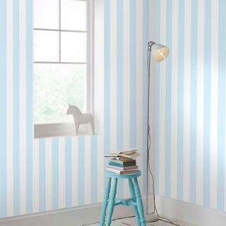 Graham & Brown Pastel Blue Stripe Wallpaper