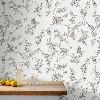 Graham & Brown Nature Trail White Mica Wallpaper