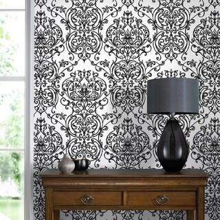 Graham & Brown Empress Damask Black/ White Wallpaper