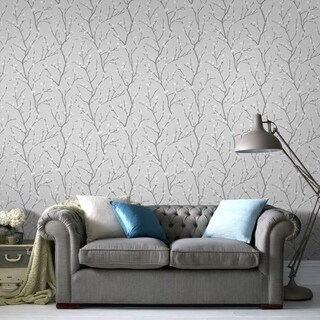 Graham & Brown Karma Grey Wallpaper